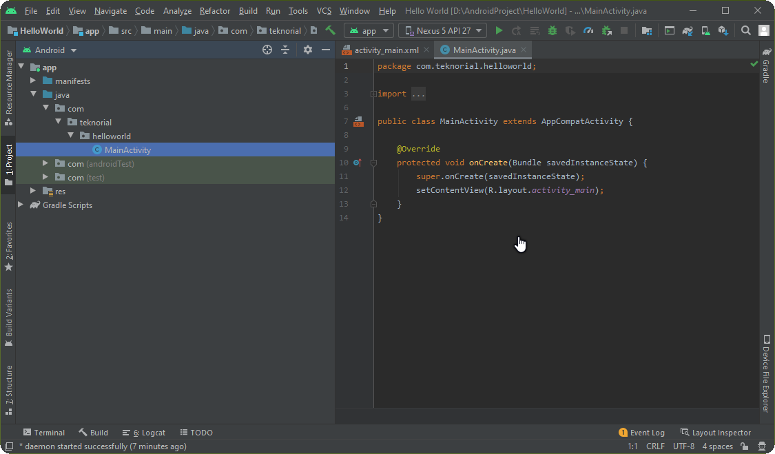 project android studio
