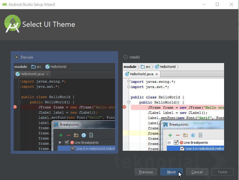 Select UI theme