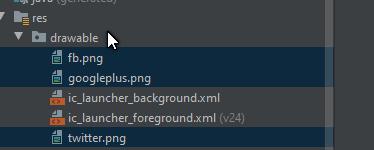 menambah icon di drawable