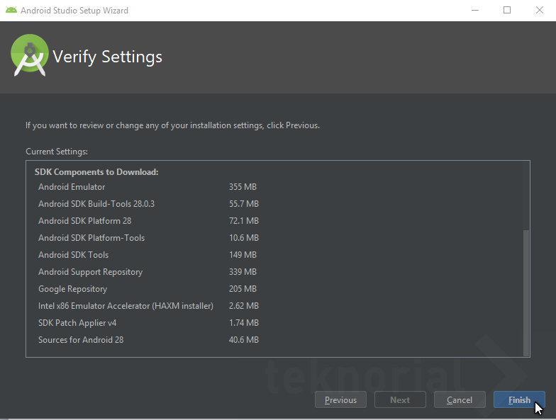 verify settings