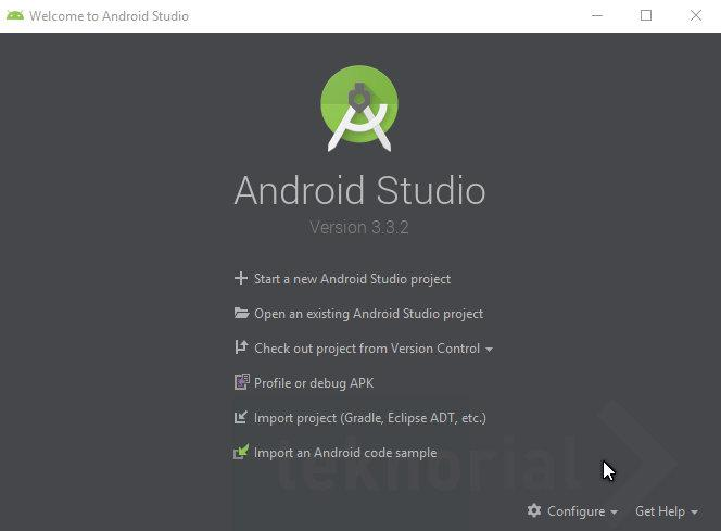 welcome to android studio